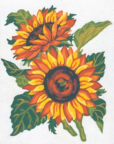 3042 Needlepoint Canvas 14x18cm Sunflowers