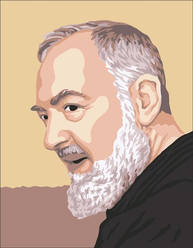 3101 Needlepoint Canvas 14x18cm Padre Pio Profile