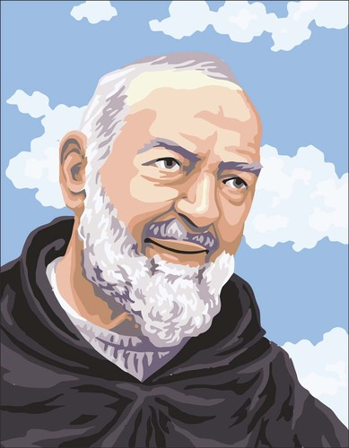 3102 Needlepoint Canvas 14x18cm Padre Pio Portrait