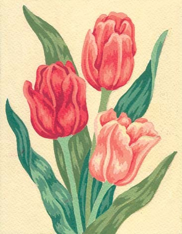 3105 Needlepoint Canvas 14x18cm Tulips