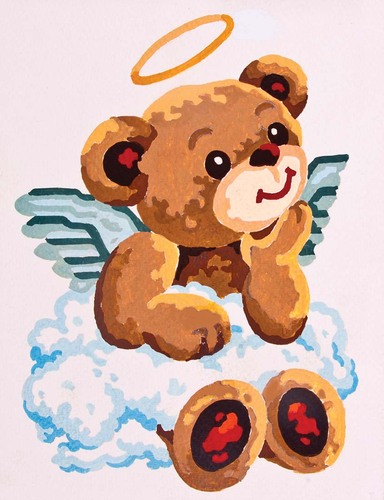 Needlepoint Canvas 14x18cm Angel Bear