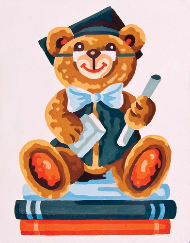Needlepoint Canvas 14x18cm Graduation Bear