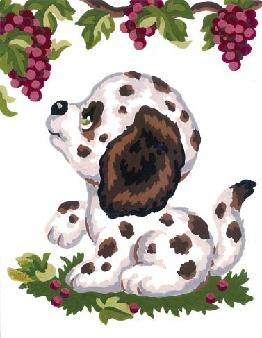 3195 Needlepoint Canvas 14x18cm Dalmation Puppy