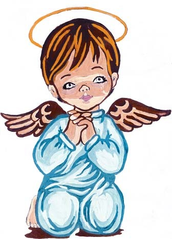 Needlepoint Canvas 14x18cm Angel Boy Praying