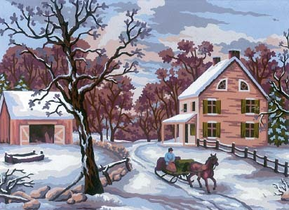 Needlepoint Canvas 14x18cm Winter