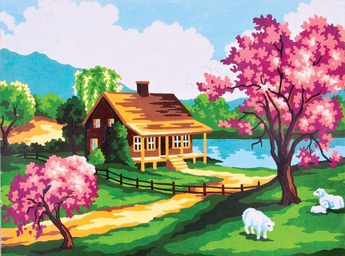 3208 Needlepoint Canvas 14x18cm Spring