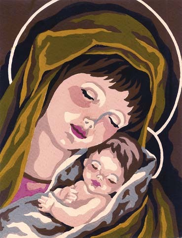 Needlepoint Canvas 14x18cm Madonna & Child I