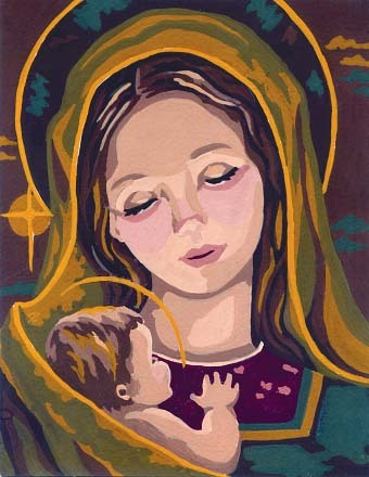 Needlepoint Canvas 14x18cm Madonna & Child II
