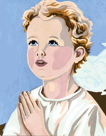 Needlepoint Canvas 14x18cm Boy Praying