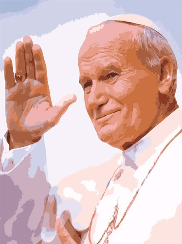 Needlepoint Canvas 14x18cm Pope John Paul II