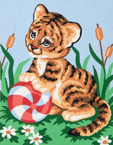 Needlepoint Canvas 14x18cm Baby Tiger