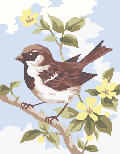 Needlepoint Canvas 14x18cm Brown Wren