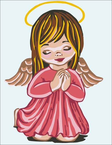 Needlepoint Canvas 22x30cm Angel Girl Praying