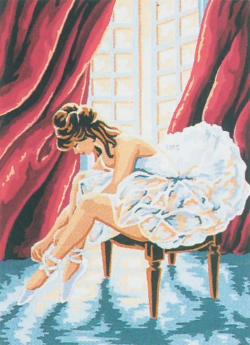 Needlepoint Canvas 22x30cm The Ballerina