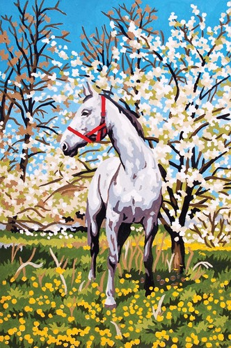 Needlepoint Canvas 22x30cm Horse in the Orchard