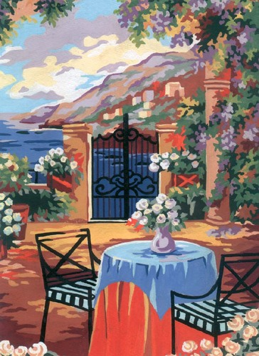 Needlepoint Canvas 22x30cm Tuscan Terrace
