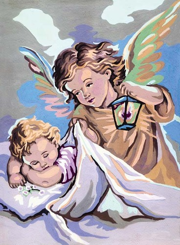Needlepoint Canvas 22x30cm Guardian Angel