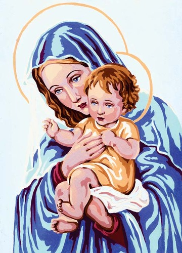Needlepoint Canvas 22x30cm Madonna and Child