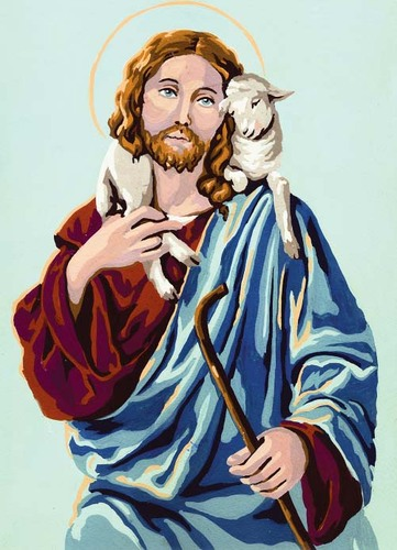 Needlepoint Canvas 22x30cm Christ