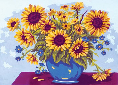 Needlepoint Canvas 22x30cm Sunflowers