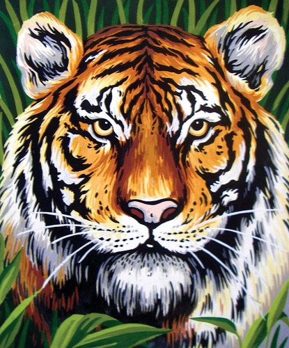 Needlepoint Canvas 22x30cm Tiger Portrait