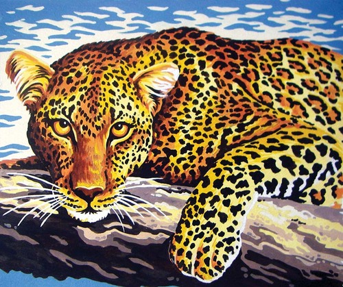 Needlepoint Canvas 22x30cm Leopard
