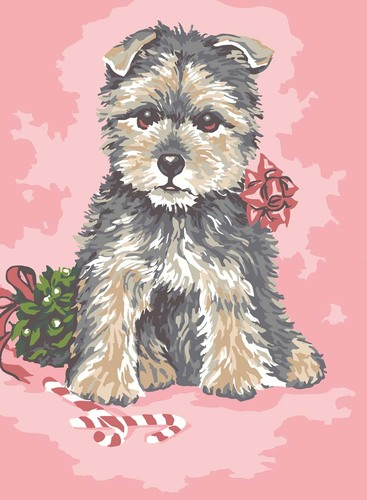 Needlepoint Canvas 22x30cm Dressed up Pup