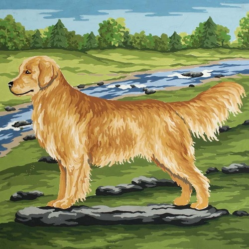 Needlepoint Canvas 22x30cm Golden Retriever