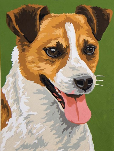 6284 Needlepoint Canvas 22x30cm Terrier