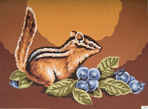 Needlepoint Canvas 22x30cm Squirrel