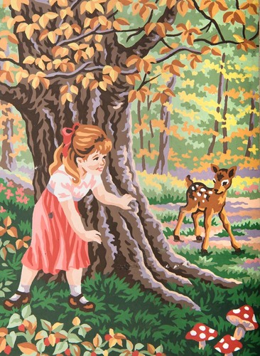 Needlepoint Canvas 22x30cm Hide 'n' Seek
