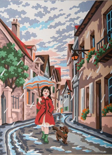 Needlepoint Canvas 22x30cm Singing in the rain