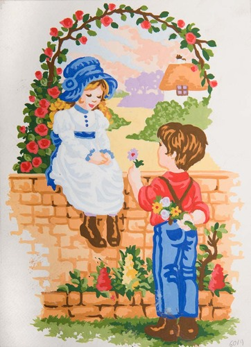 Needlepoint Canvas 22x30cm Sweethearts