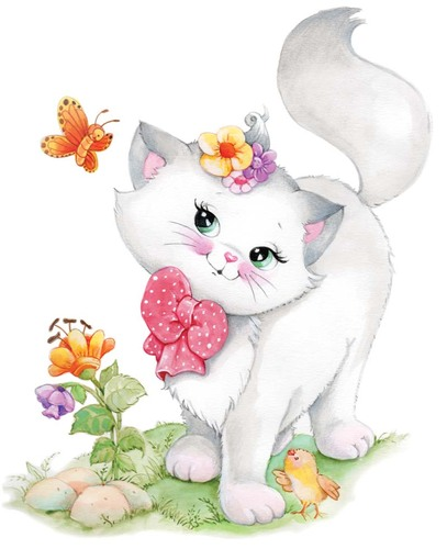 Needlepoint Canvas 22x30cm Pretty Kitty