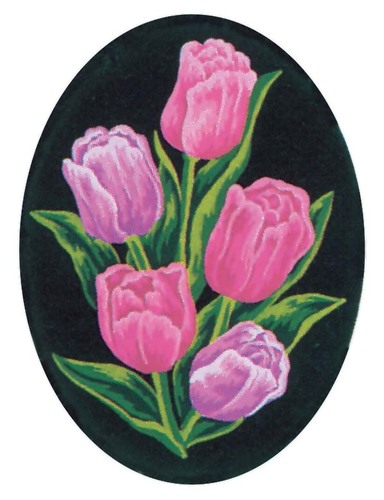 Needlepoint Canvas 18x24cm Tulips