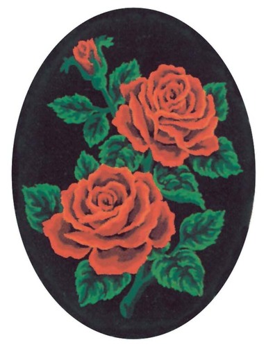 Needlepoint Canvas 18x24cm Red Roses