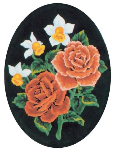 Needlepoint Canvas 18x24cm Daffodils and Roses