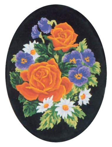 Needlepoint Canvas 18x24cm Pansies and Roses
