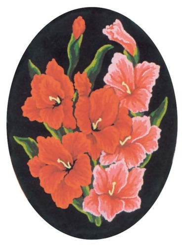 Needlepoint Canvas 18x24cm Gladioli