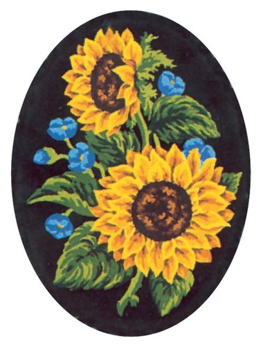 Needlepoint Canvas 18x24cm Sunflowers