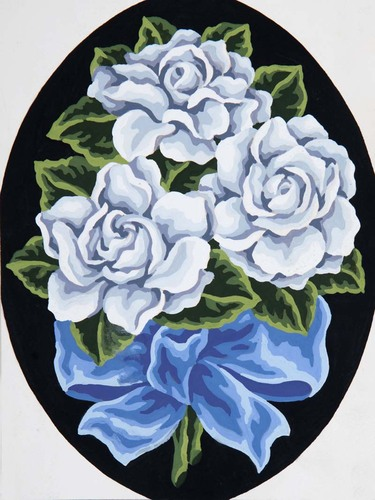Needlepoint Canvas 18x24cm White Roses