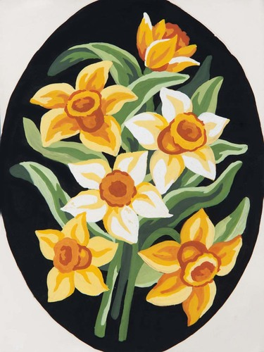 Needlepoint Canvas 18x24cm Yellow Daffs