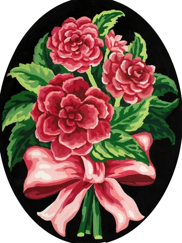 Needlepoint Canvas 18x24cm Peonies Bow