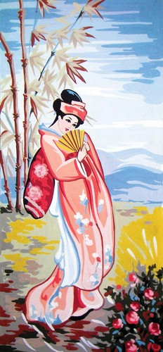 Needlepoint Canvas 23x50cm Geisha in Summer