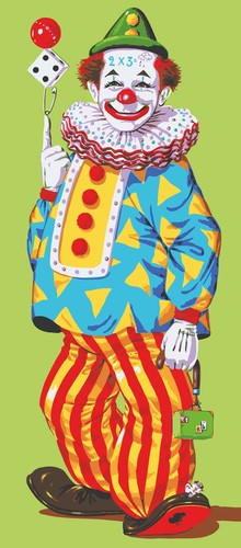 Needlepoint Canvas 23x50cm Juggling Clown