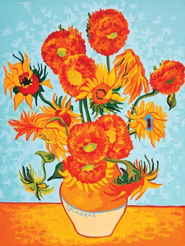 10244 Needlepoint Canvas 30x40cm Sunflowers (Van Gogh)