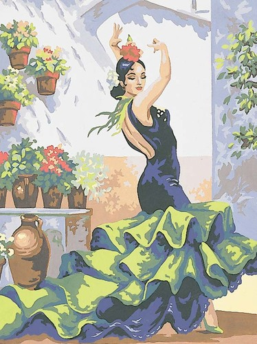 Needlepoint Canvas 30x40cm Flamenco