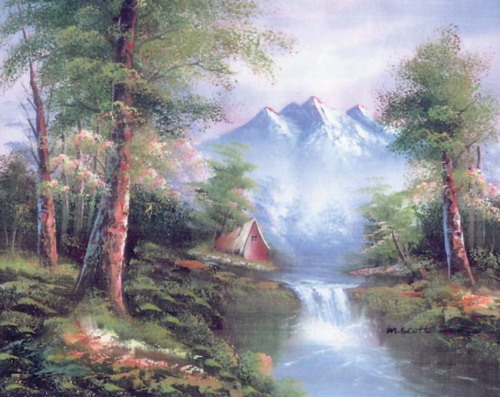 10334 Needlepoint Canvas 30x40cm Mountain Cascades