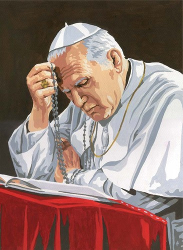 10341 Needlepoint Canvas 30x40cm Pope John Paul