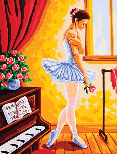 Needlepoint Canvas 30x40cm Ballet Lesson
